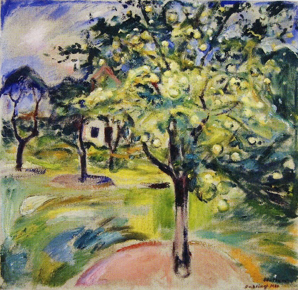 Edvard Munch - Apple Tree in the Garden at Ekely