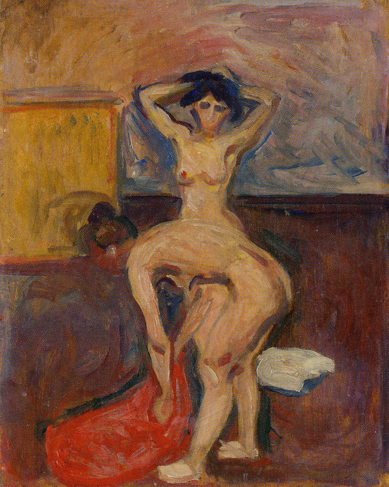 Edvard Munch - Bending and Upright Nude