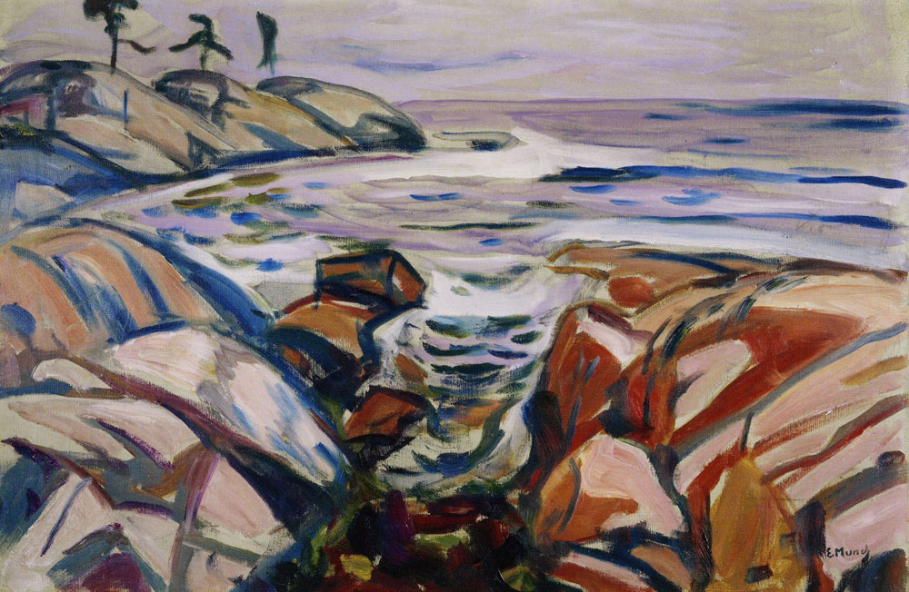 Edvard Munch - Coastal Landscape at Hvitsten