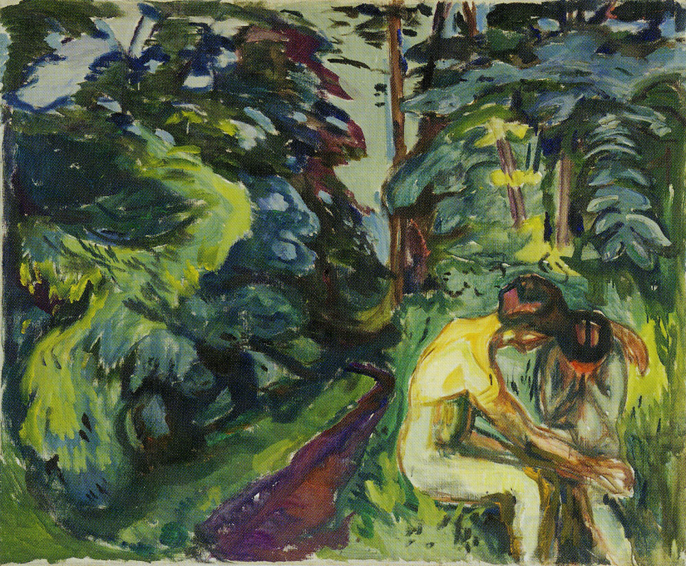 Edvard Munch - Consolation in the Forest