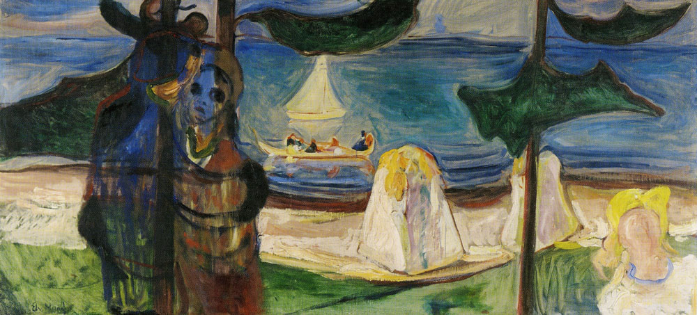 Edvard Munch - Embrace on the Beach (the Linde Frieze)