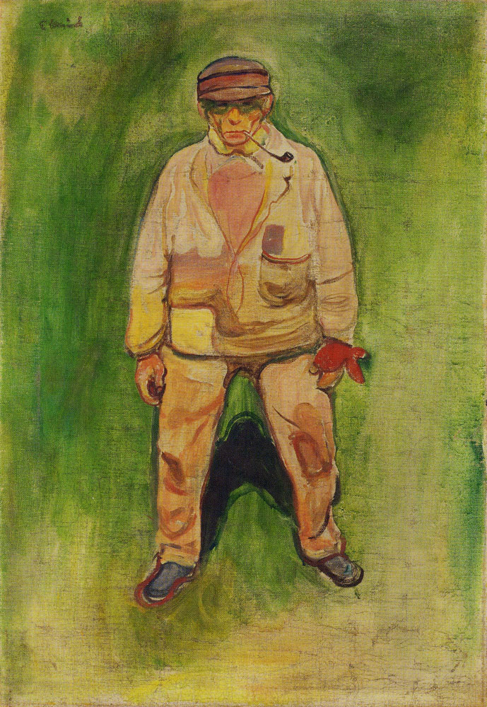 Edvard Munch - Fisherman on a Green Meadow