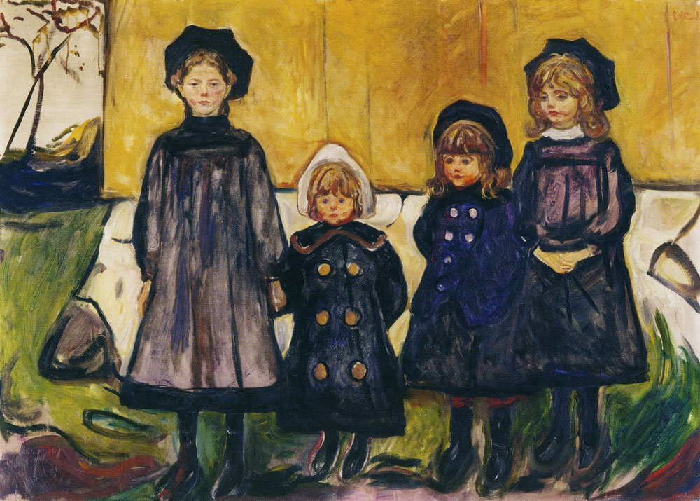 Edvard Munch - Four Girls in Åsgårdstrand