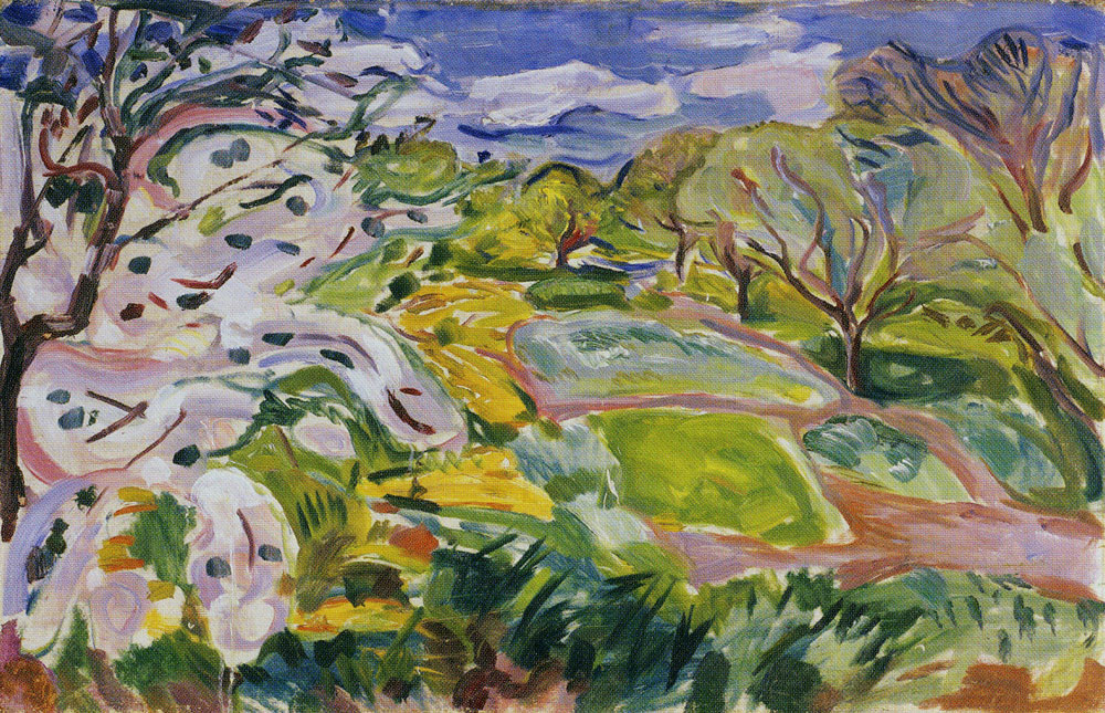 Edvard Munch - Fruit Trees in Blossom in the Wind
