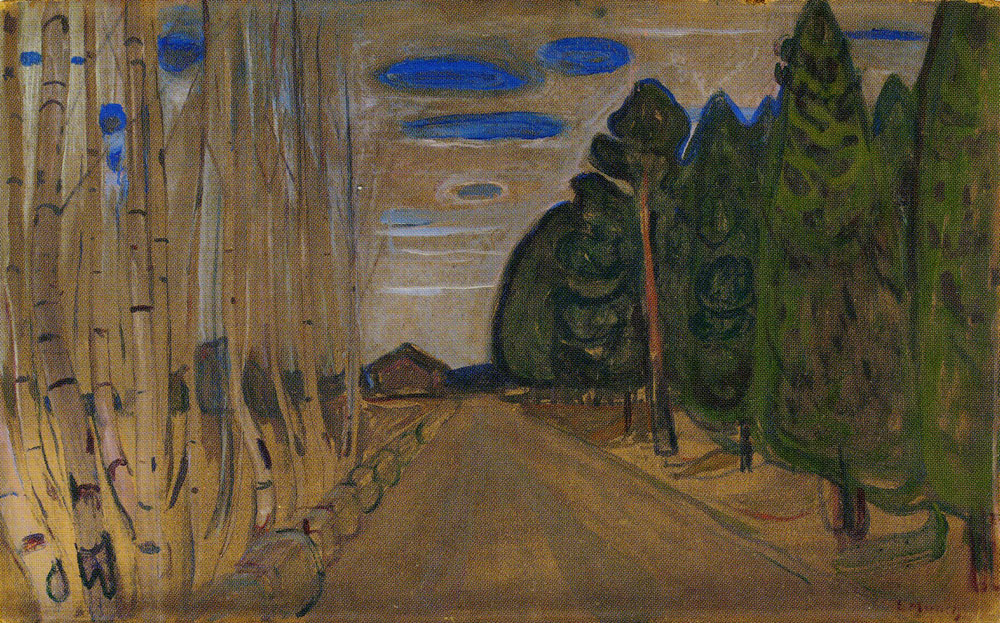 Edvard Munch - Landscape with a Road