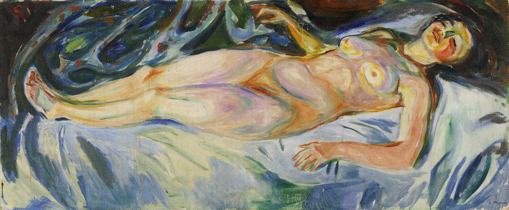 Edvard Munch - Reclining Nude: Night