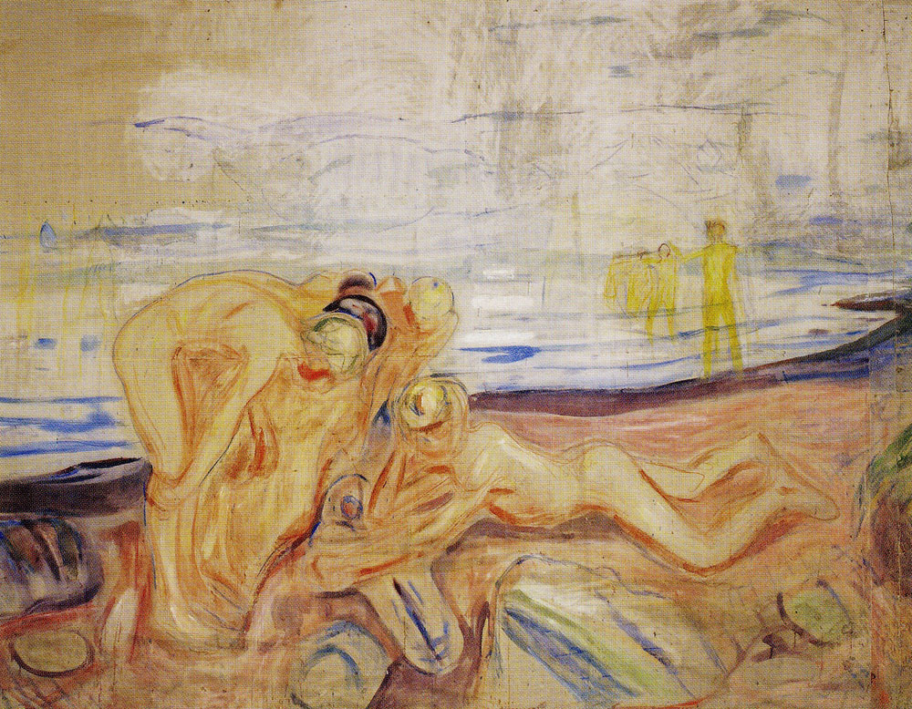 Edvard Munch - The Researchers: Left Part with Playing Children
