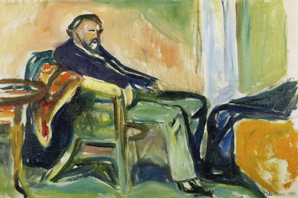 Edvard Munch - Self-Portrait with the Spanish Flu