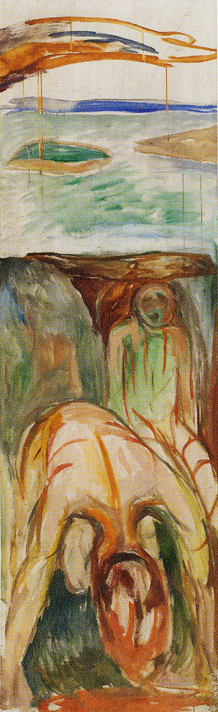 Edvard Munch - The Storm: Right Middle Part