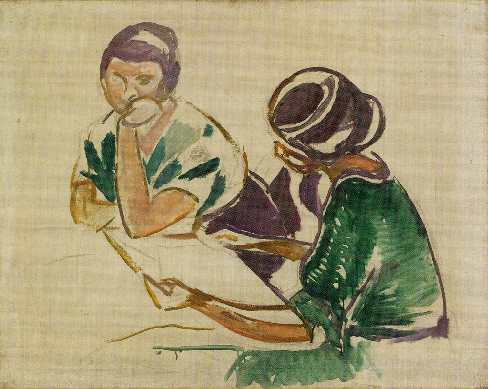 Edvard Munch - Two Women at the Table