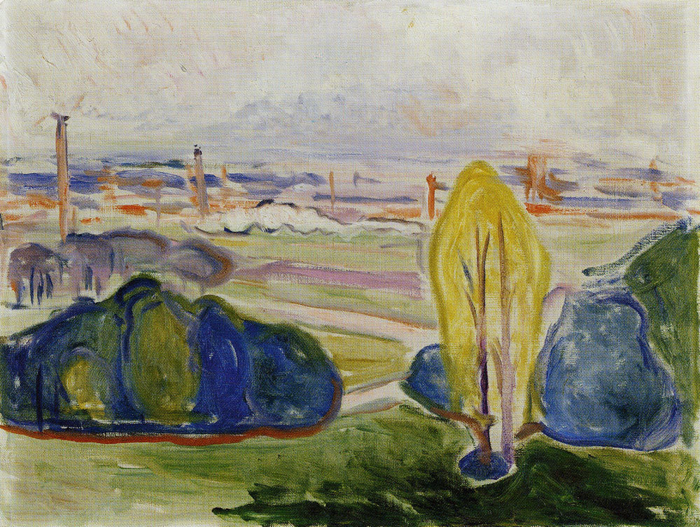 Edvard Munch - View Across Chemnitztal