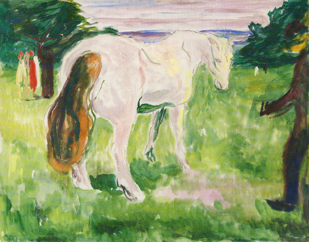 Edvard Munch - White Horse in a Green Meadow
