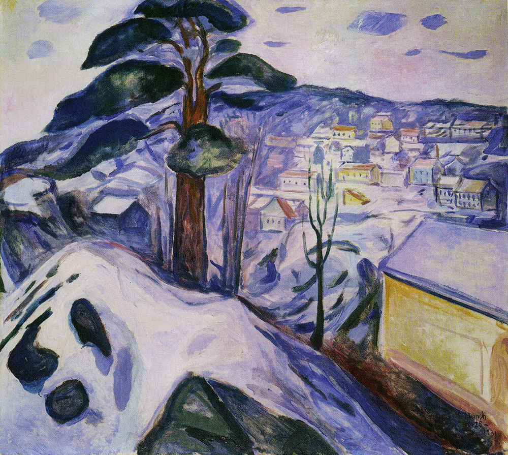 Edvard Munch Winter In Krager 248
