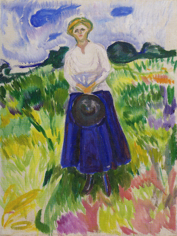 Edvard Munch - Woman in a Green Meadow