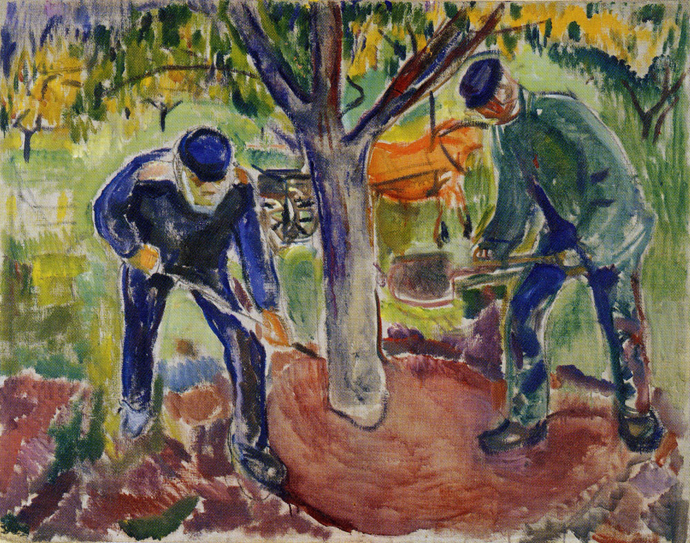 Edvard Munch - Workers in the Garden