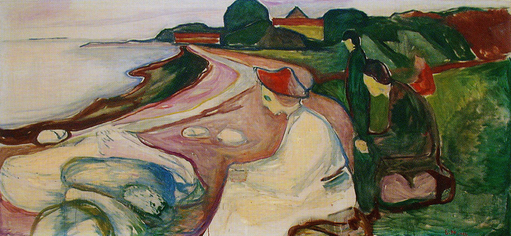 Edvard Munch - Youths on the Beach (The Freia Frieze XII)