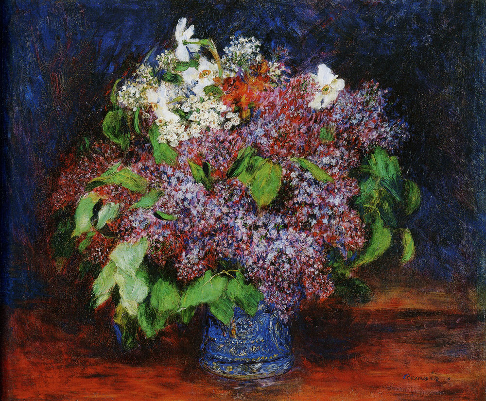 Pierre-Auguste Renoir - Bouquet of Lilacs