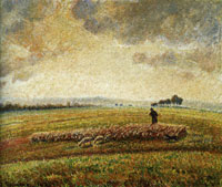 Camille Pissarro Landscape with Flock of Sheep