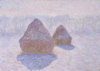 Claude Monet - Haystacks (Effect of Snow and Sun)