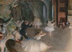 Edgar Degas The Rehearsal Onstage