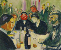 Edvard Munch - Around the Drinking Table