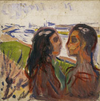 Edvard Munch Attraction in Landscape