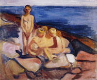 Edvard Munch Bathing Boys
