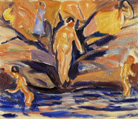 Edvard Munch Bathing Women and Children
