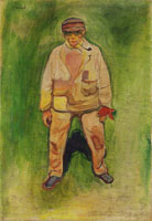 Edvard Munch Fisherman on a Green Meadow