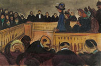 Edvard Munch Foster Mothers in Court