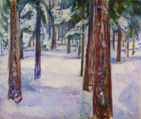 Edvard Munch Forest in Snow