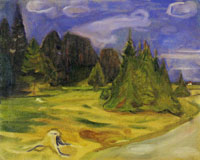 Edvard Munch Forest on the Way to Borre