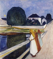 Edvard Munch The Girls on the Bridge