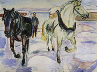 Edvard Munch Horse Team in Snow
