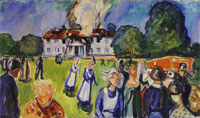 Edvard Munch The House is Burning!