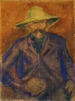 Edvard Munch Man with Straw Hat