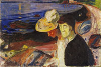 Edvard Munch Man and Woman on the Beach