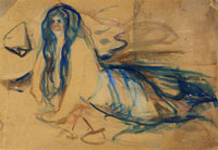 Edvard Munch Mermaid on the Beach