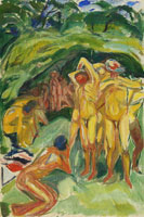 Edvard Munch Naked Men in the Woods