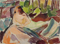 Edvard Munch Nude in the Forest