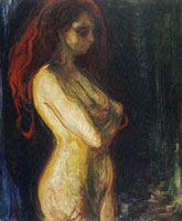 Edvard Munch Nude in Profile Towards the Right