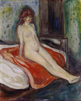 Edvard Munch Nude Seated on the Bed