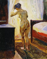 Edvard Munch Morning, Nude at the Window