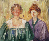 Edvard Munch Olga and Rosa Meissner