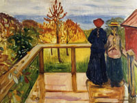 Edvard Munch On the Veranda