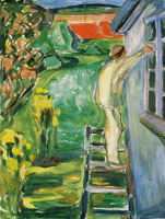 Edvard Munch Painter by the Wall