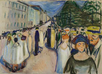Edvard Munch Promenade on Karl Johan