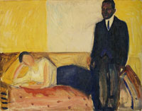 Edvard Munch Reclining Woman and Standing African