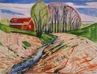 Edvard Munch The Red House