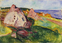 Edvard Munch Red Rocks by Åsgårdstrand